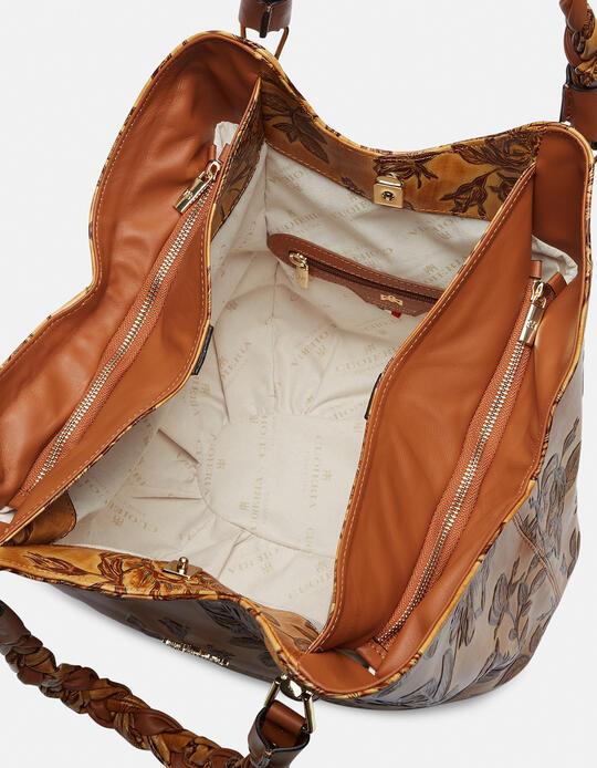 Mimì Shoulder bag with double braided handles  Cuoieria Fiorentina