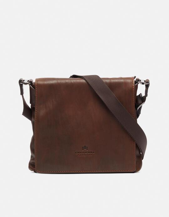 Bourbon men's leather messenger bag  Cuoieria Fiorentina