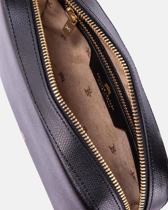 Bella clutch bag con tracolla in pelle e metallo  Cuoieria Fiorentina