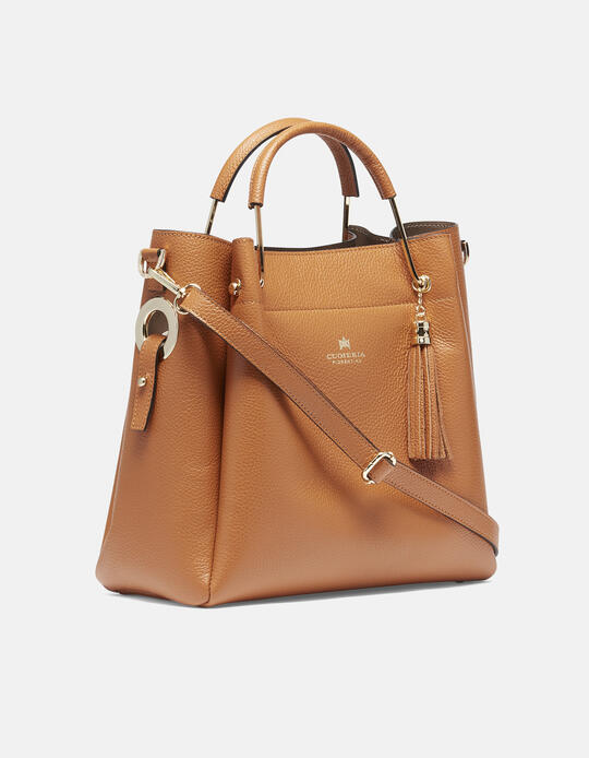 Hand bag in hammered calf leather  Cuoieria Fiorentina