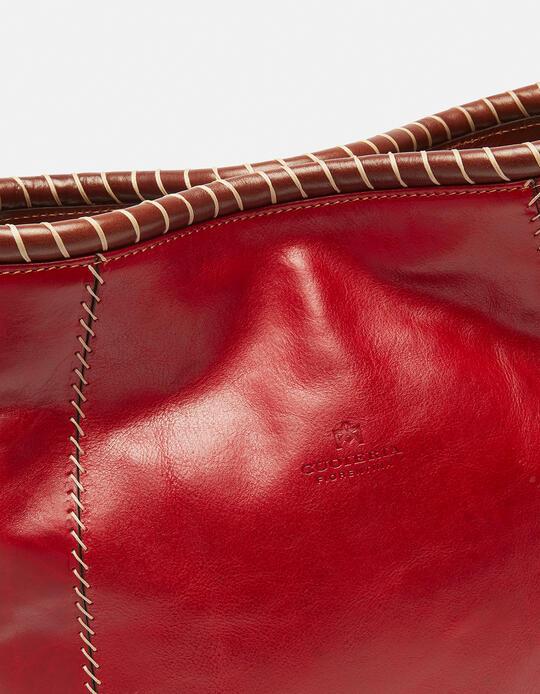Warm and Colour hand-stitched shoulder bag  Cuoieria Fiorentina