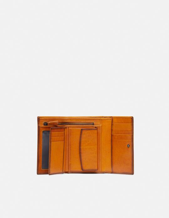 Warm and colour portafoglio medio anti-rfid in cuoio bifold con bordo effetto bruciato  Cuoieria Fiorentina