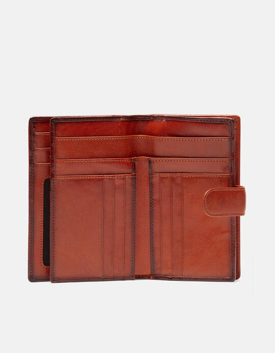 Warm and Color wallet with coin purse  Cuoieria Fiorentina