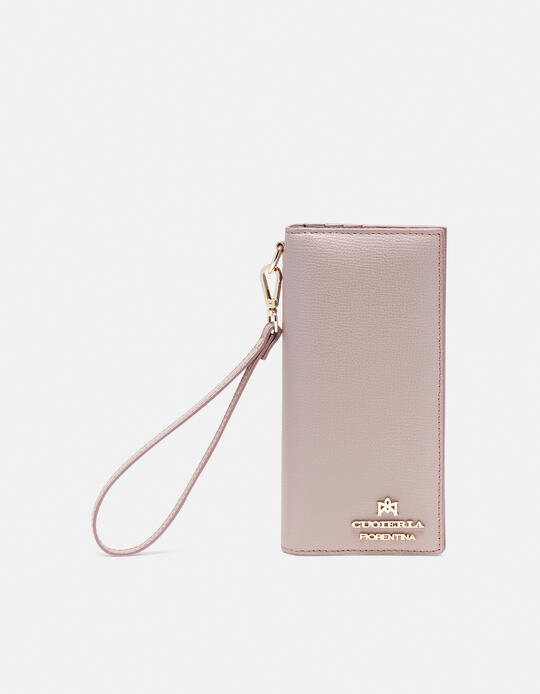 Vertical credit card holder withcoin case and zip Cloud  Cuoieria Fiorentina