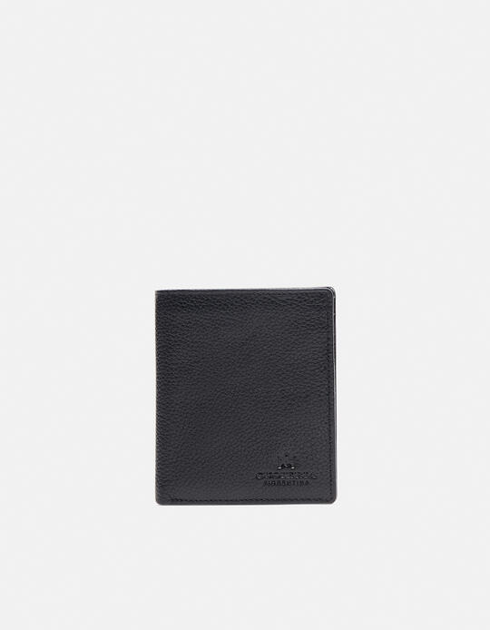 Anti-Rfid vertical wallet with coin purse in printed calf grained  Cuoieria Fiorentina