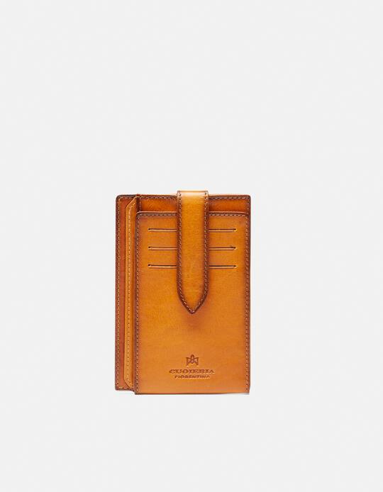 Warm and Color Anti-RFID cardholder  Cuoieria Fiorentina
