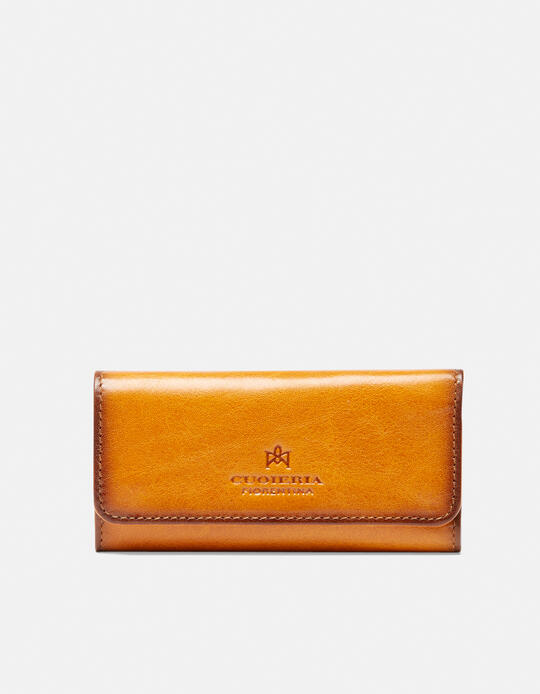 Warm and leather book keyring in leather  Cuoieria Fiorentina
