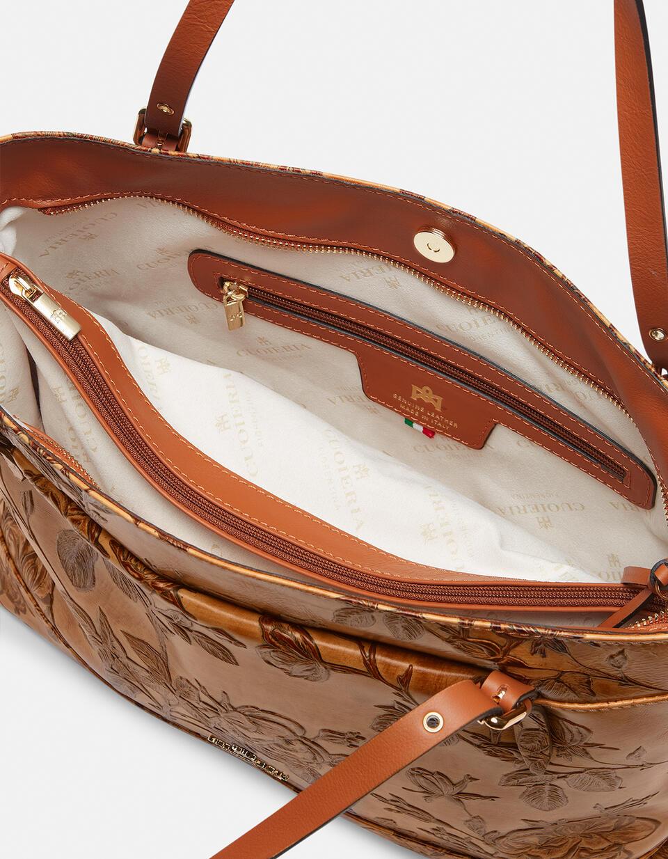 Big Mimì shopping bag keystone design  Cuoieria Fiorentina