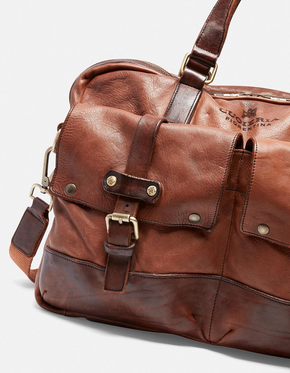 Millennial briefcase in natural leather  Cuoieria Fiorentina