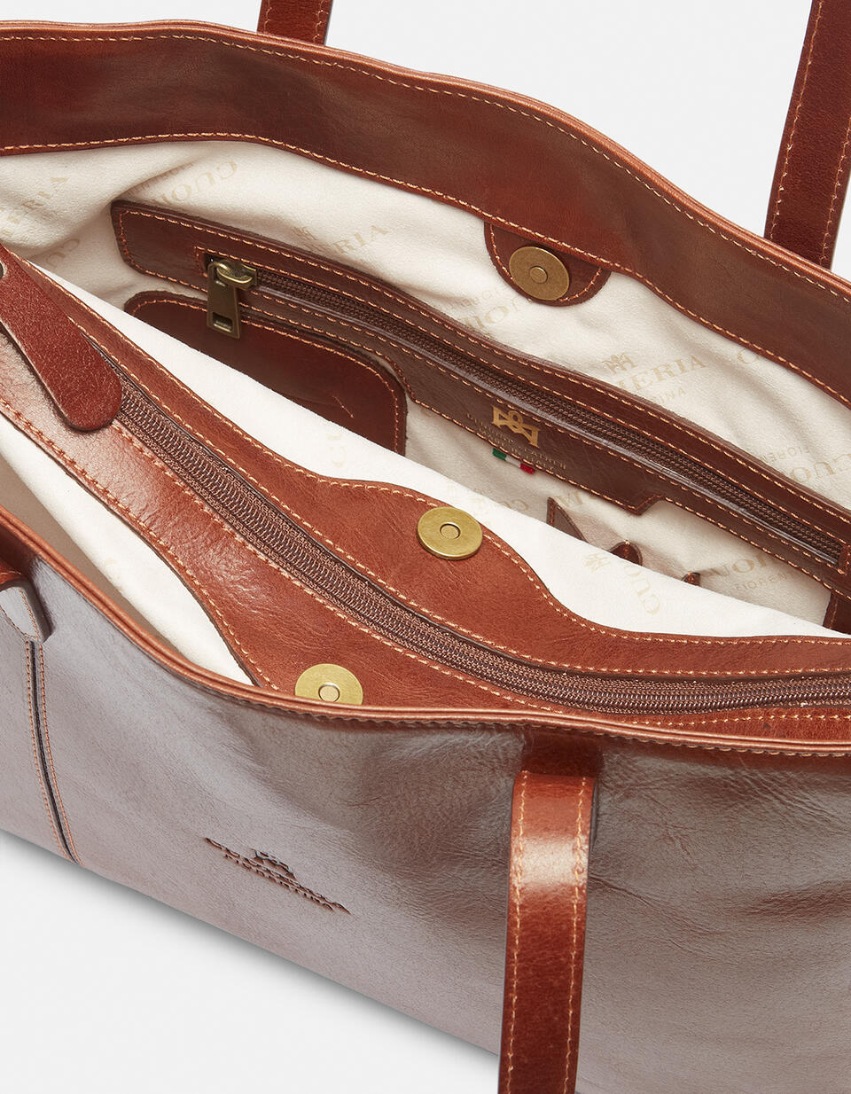 Warm and Colour large leather shopping bag  Cuoieria Fiorentina