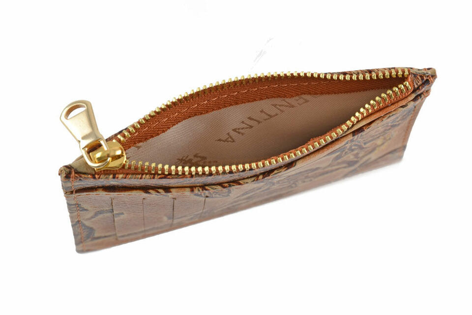 Printed calfskin briefcase with zip  Cuoieria Fiorentina
