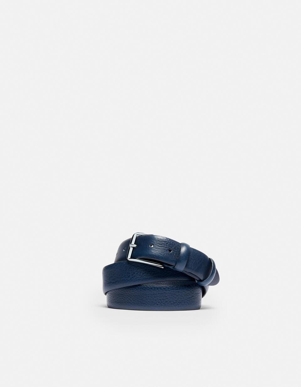 Cintura Classica in pelle con cucitura a contrasto  Cuoieria Fiorentina