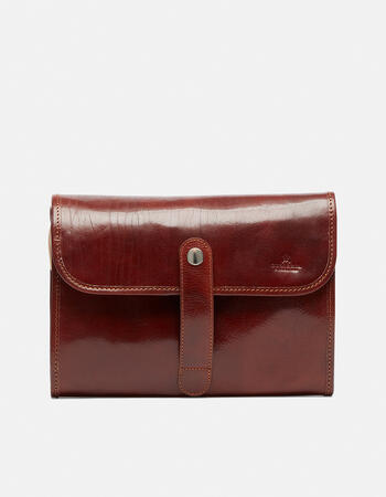 Object holder with clothes holder in leather