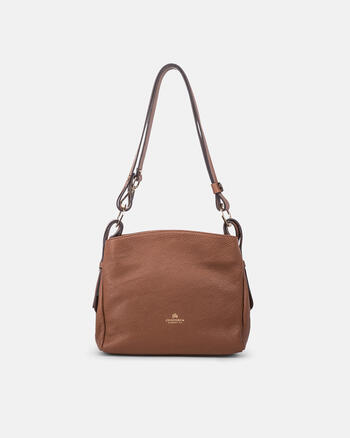 Velvet medium shoulder bag with extendable strap