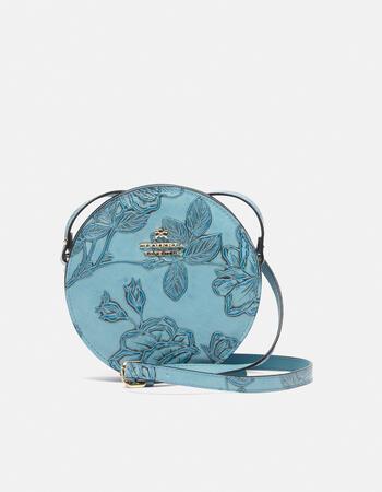 Mimì round leather shoulder bag