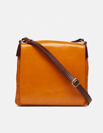 Warm and colour men's leather messenger bag