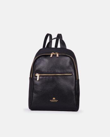 'velvet' backpack with zipped front pocket