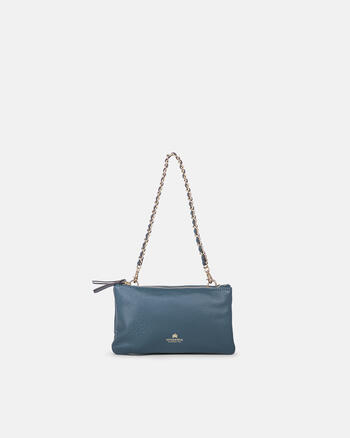 Double pochette in hammered calf leather