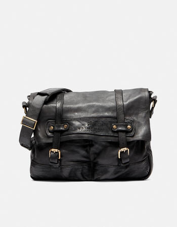 Millennial messenger in natural leather