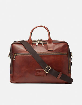 """Tokio men's briefcase for 15.6 """" pc in soft leather"""
