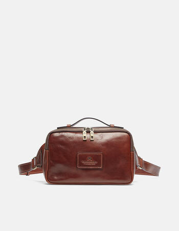Tokio belt bag with soft leather flap