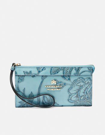 Pochette a portafoglio in mimì