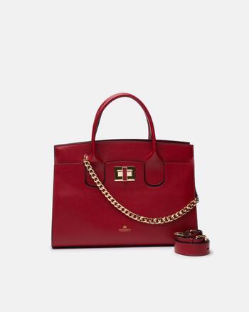 Bella large tote bag con accessorio metallo