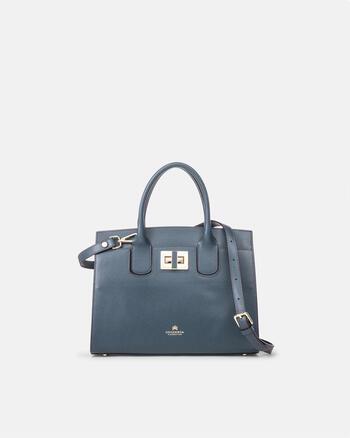 Bella medium tote bag with metal details