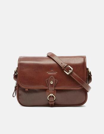 Big leather messenger  bag