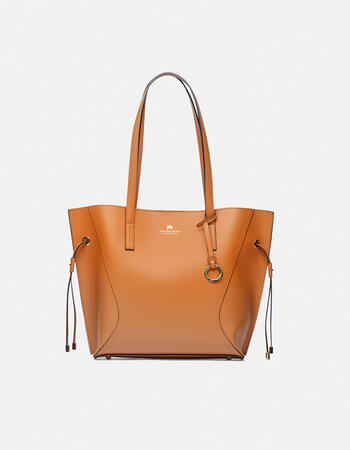 Shopping bag in calf leather