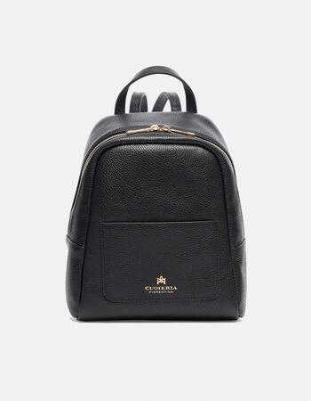 Small backpack in hammered calf leather