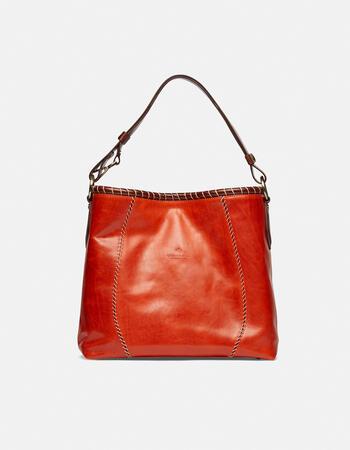 Warm and colour hand-stitched shoulder bag