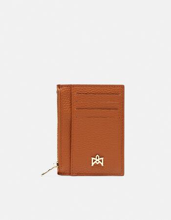 Velvet card holder with zip