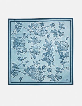Twill scarf 100% pure silk printed mimi' 90x90cm