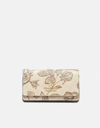 Mimì clutch wallet in printed calfskin