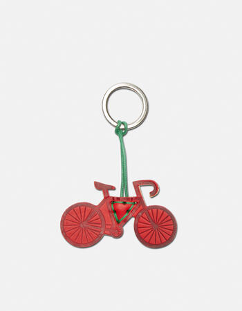 Bicycle leather keychain