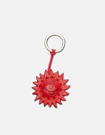 Sun  leather keychain