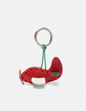 Airplane leather keychain