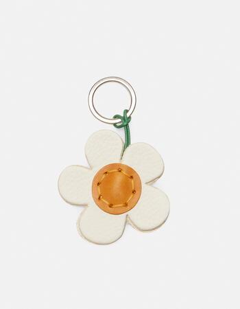 Flower leather keychain