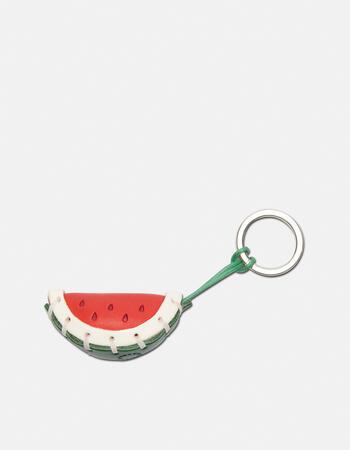 Watermelon  leather keychain