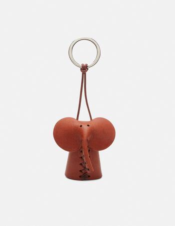 Elefant  leather keychain