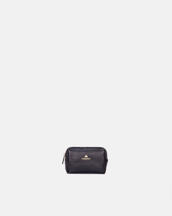 Small make-up case in full calf leather