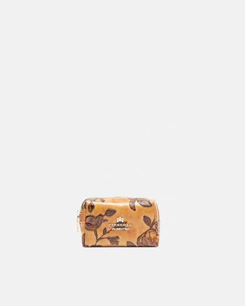 Calfskin printed beauty-case