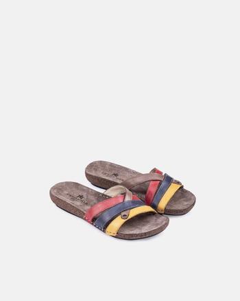 Sandalo basso in pelle