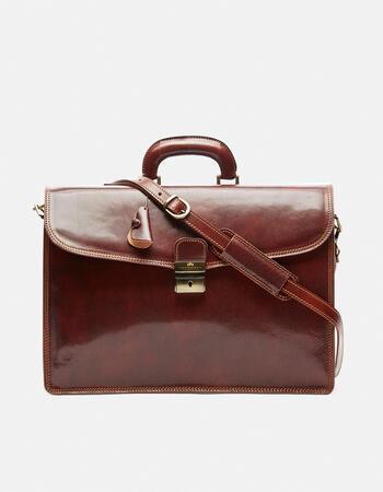 Oxford briefcase with interlocking closure