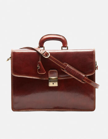 Classic work bag in vegetable tanned leather
