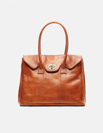 Oxford large vegetable tanned leather shopping bag
