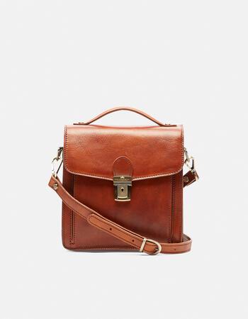 Oxford men's classic shoulder bag in vegetable tanned leather