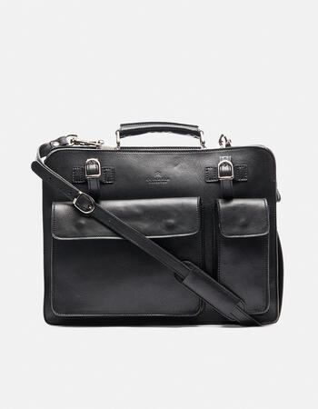 Large oxford briefcase with straps for holding newspaper