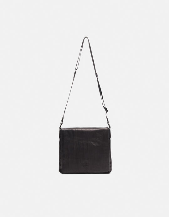 Bourbon men's leather messenger bag NERO Cuoieria Fiorentina
